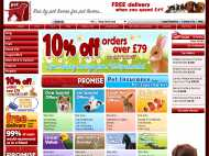 Pet-Supermarket's huge range of cheap UK dog supplies includes everything you need to care for your dog or puppy including food & treats, toys, grooming equipment, medicine & supplements, collars & leashes, beds, clothes, flaps & doors, bowls & feeders, cleaning products and more.